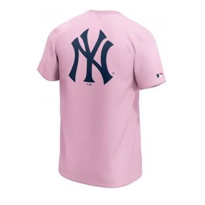 Camiseta Fanatics New York Pinstripe Pride Pink