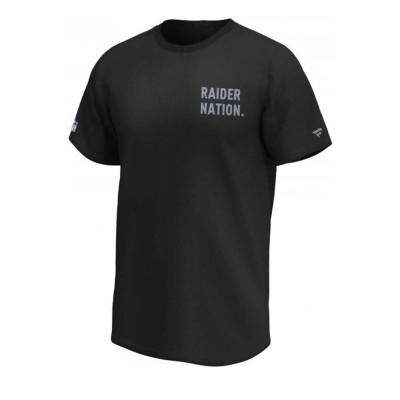 Camiseta Fanatics Raider Nation Black