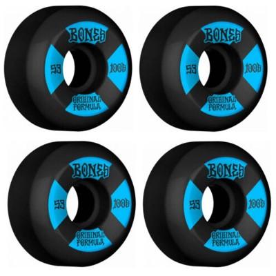 Ruedas Skate Bones 53mm 100's V5 Sidecut Black 100A