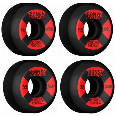 Ruedas Skate Bones Bones 52mm 100's V5 Sidecut Black 100A