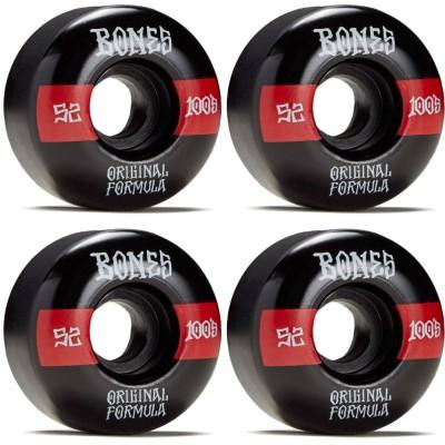 Ruedas Skate Bones Bones 100s OG Formula V4 Wide - Black...