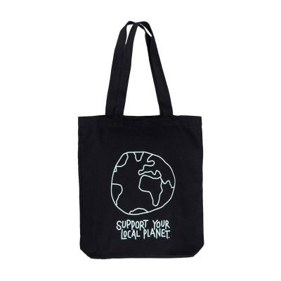 Bolsa Tote Bag Dedicated Torekov Local Planet Black Black