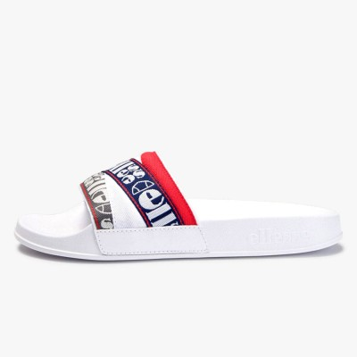 Chanclas slider Ellesse Filippo Webbing Wht-Blu-Red