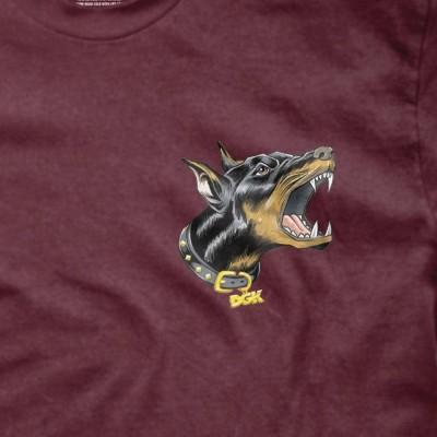 Camiseta DGK Beware Tee Printed Tee Burgundy