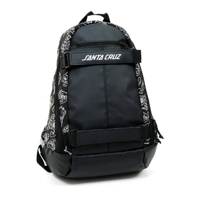 Mochila skate Santa Cruz Skatepack Dispatch Black Hand...