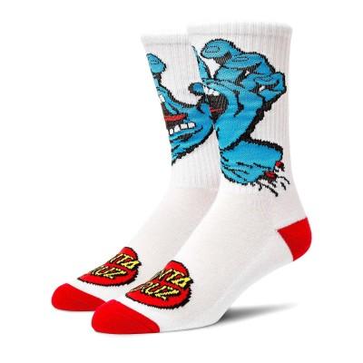 Calcetines Santa Cruz Socks Screaming Hand White-White