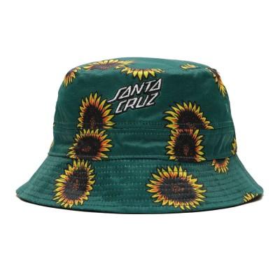 Gorro Reversible Santa Cruz Hat Sunflowers Bucket Black