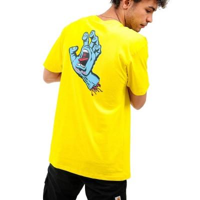 Camiseta Santa Cruz Tee Screaming Hand Chest B Yellow