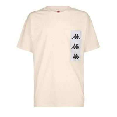 Camiseta Kappa 222 Banda Ewan beige sand white