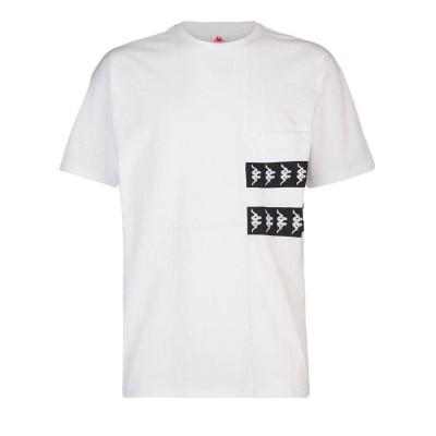 Camiseta Kappa 222 Banda Efto blanca white black