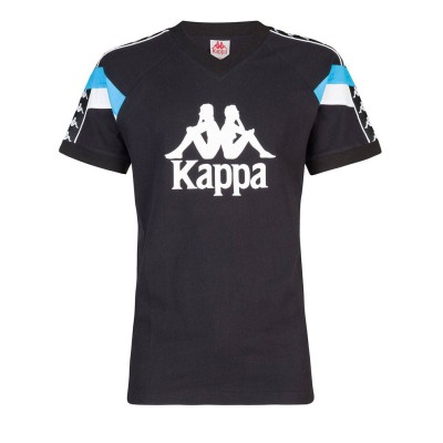 Camiseta Kappa Football 90 Edwin negra black blue