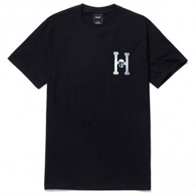 Camiseta HUF Skulls Classic H negra black