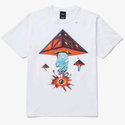 Camiseta HUF Doomsday TT blanca white