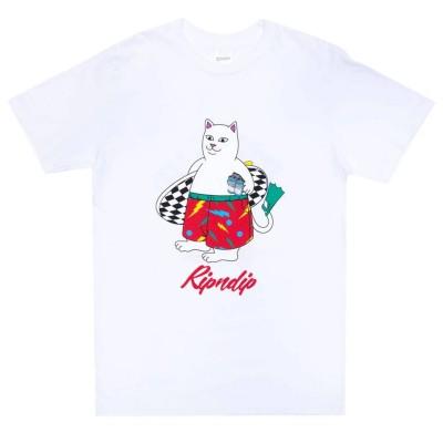Camiseta RipNDip Surf Break Tee Blanco White