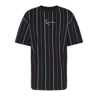 Camiseta Karl Kani Small Signature Pinstripe Ralla Negro...