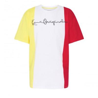 Camiseta Karl Kani Original Block Tricolor Blanco White