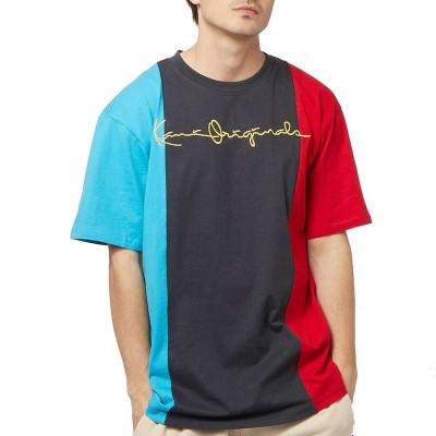 Camiseta Karl Kani Originals Block Tricolor Azul Marino Navy