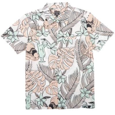 Camisa Dark Seas Cranston Organic Cotton Woven Pink-Green