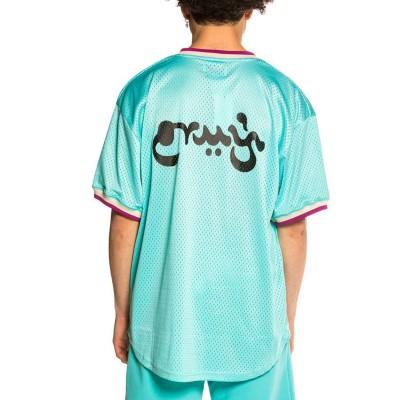 Camiseta Grimey Hope Unseen V Neck Mesh Tee Blue