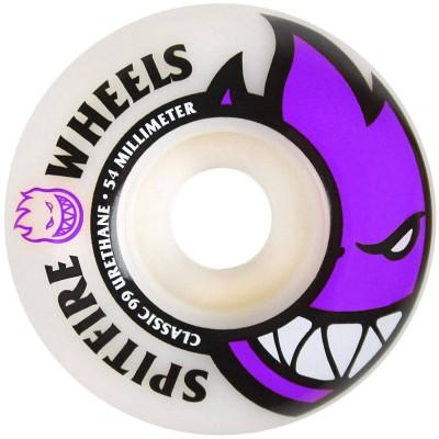 Ruedas Skate Spitfire Bighead Wheels White/Purple 54mm 99A