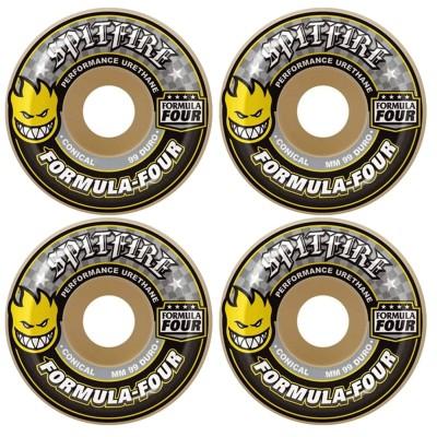 Ruedas Spitfire Formula Four 99D Conical Yellow Print 54mm