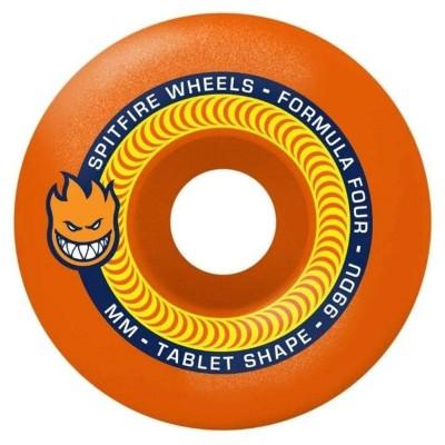 Ruedas Skate Spitfire Formula Four 99 Tablet Neon Orange...