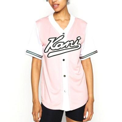 Camisa beisbolera mujer Karl Kani Block Baseball Shirt...