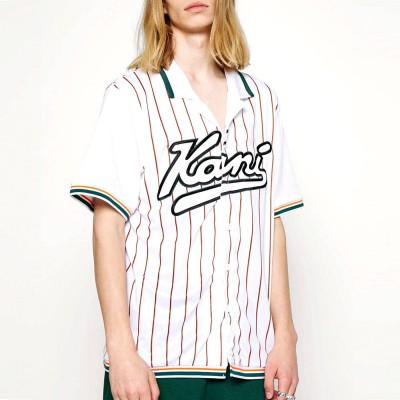 Camiseta rallas Karl Kani Varsity Block Pinestripe...