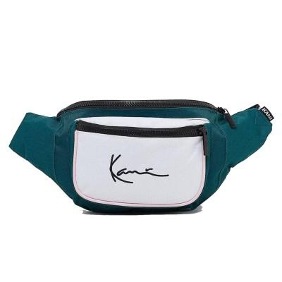 Riñonera Karl Kani 4104161 Verde Green Blanco White