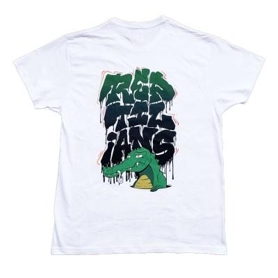Camiseta Reptilians Aligator White