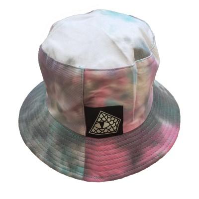 Gorro Bucket Reversible Reptilians Logo Tie Dye Rosa-Azul