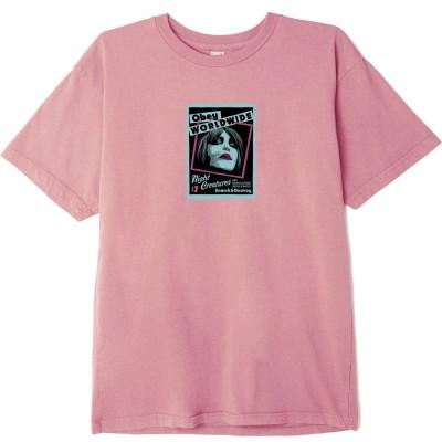Camiseta OBEY Night Creatures rosa pink