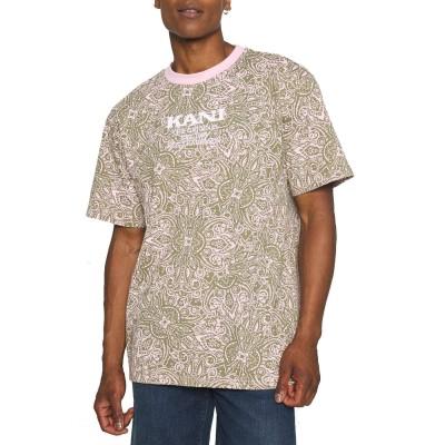 Camiseta Karl Kani Retro Paisley Rosa Rose leo