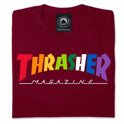 Camiseta Thrasher Rainbow Tee Maroon