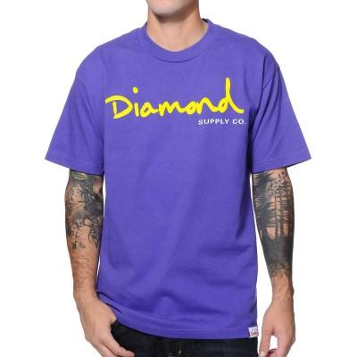 Camiseta Diamond Og Script Tee Purple