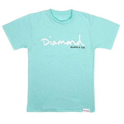 Camiseta Diamond Og Script Tee Diamond Blue