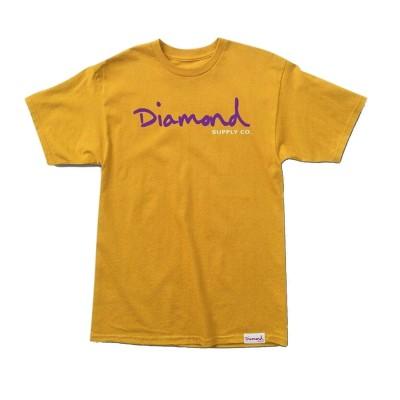 Camiseta Diamond Og Script Tee Gold