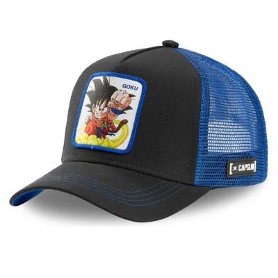 Gorra Trucker Capslab Dragon Ball Z Goku Black-Blue