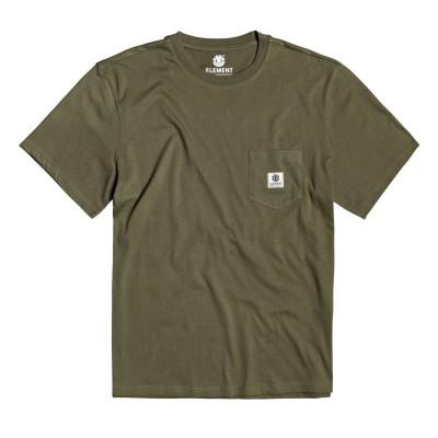 Camiseta Element Basic Pocket Label Ss Army