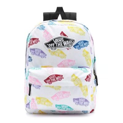 Mochila Vans Realm Backpack Skate Ditsy White