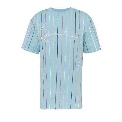 Camiseta Karl Kani Signature Pinstripe Light Blue