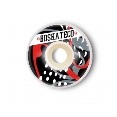 Ruedas BDSkateco Splash 54-55mm Black-Red