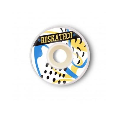 Ruedas BDSkateCo Splash 52mm Yellow Blue