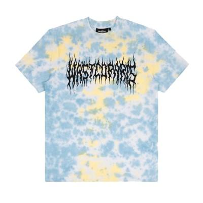 Camiseta Wasted Paris Tie Dye Fire Bridge Yellow Blue