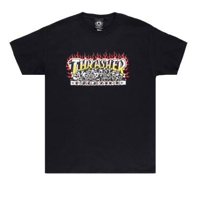Camiseta Thrasher Krak Skulls Black