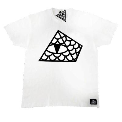 Camiseta Reptilians Logo Pirámide Blanca White