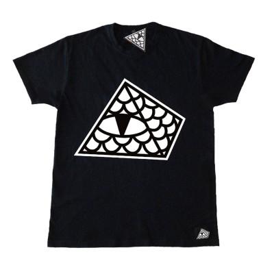 Camiseta Reptilians Logo Pirámide Negra Black
