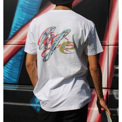 Camiseta Reptilians Train Life White