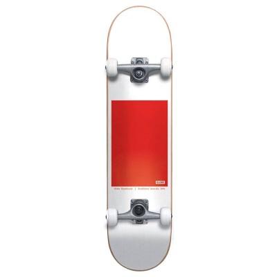 "Skate Completo Globe 8"" Go Block Serif White Red"