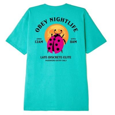 Camiseta OBEY Obey Buggin' Out Nightlife Tea